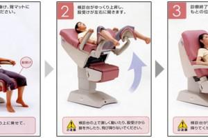 婦人科検診台の使い方